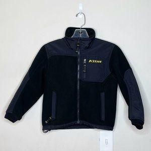Klim Zip-Up Fleece Jacket Black Youth Boys Size 8